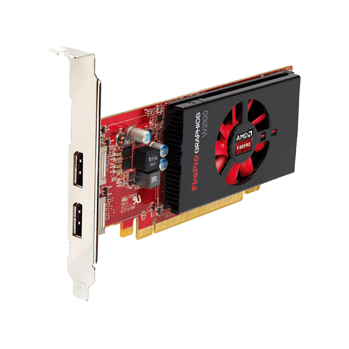 FirePro W2100 100-505980, 2GB GDDR3 128-Bit, PCI-Express 3.0 Low Profile Graphics Card