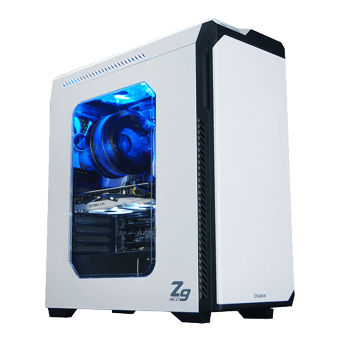 Z9 NEO White w/ Window, No PSU, ATX, White, Mid Tower Case