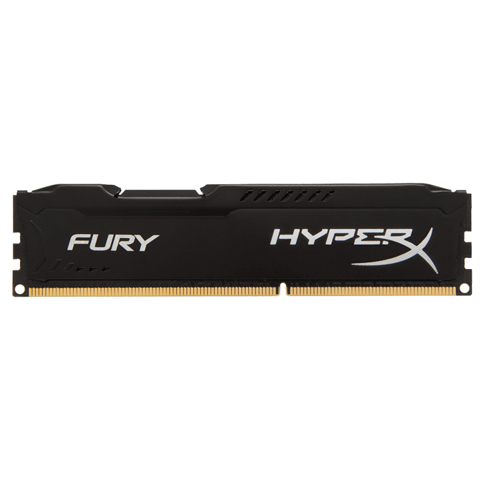 8GB HyperX Fury DDR4 2400MHz, PC4-19200, CL15 (15-15-15) 1.2V, Non-ECC, Black, DIMM Memory