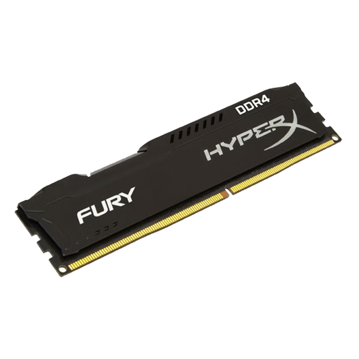 8GB HyperX Fury DDR4 2133MHz, PC4-17000, CL14 (14-14-14) 1.2V, Non-ECC, Black, DIMM Memory