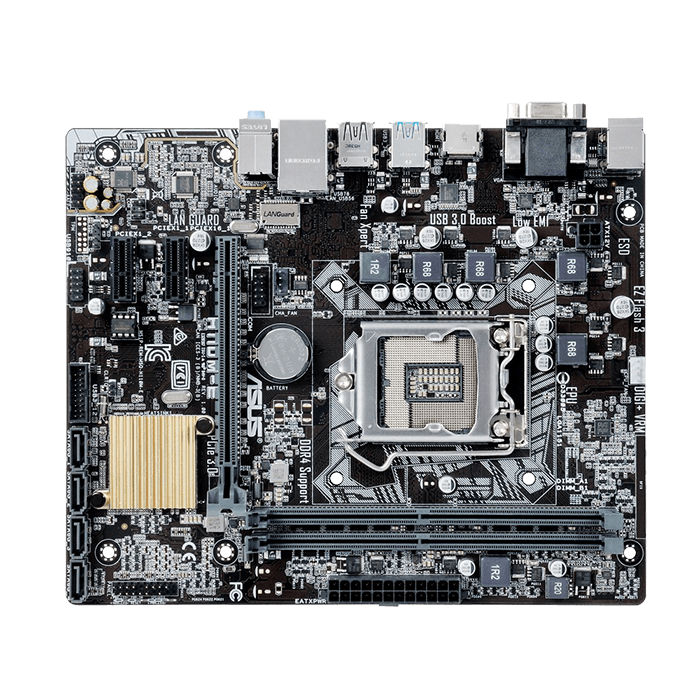 H110M-E, Intel H110 Chipset, LGA 1151, DDR4 32GB, HDMI, microATX Retail Motherboard