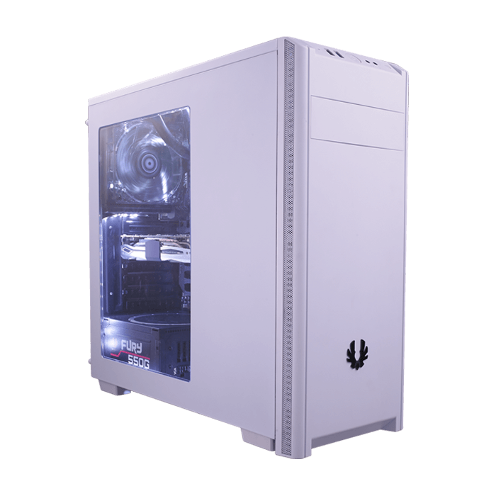 Nova Series BFX-NOV-100-WWWKK-RP w/ Window, No PSU, ATX, White, Mid Tower Case