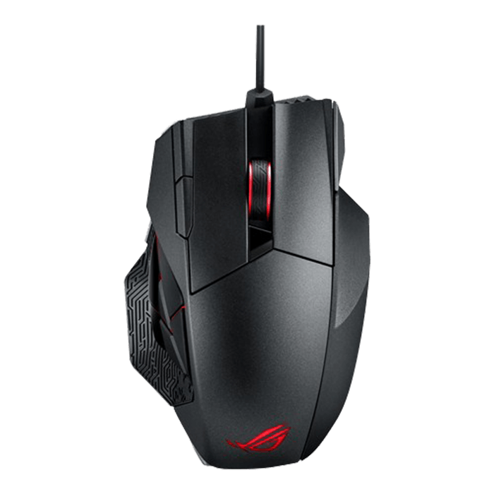 ROG Series SPATHA, RGB LED Illumination, 12 Buttons, 8200dpi, Wired/Wireless USB/RF 2.4GHz, Titanium Black, Retail Laser Gaming Mouse