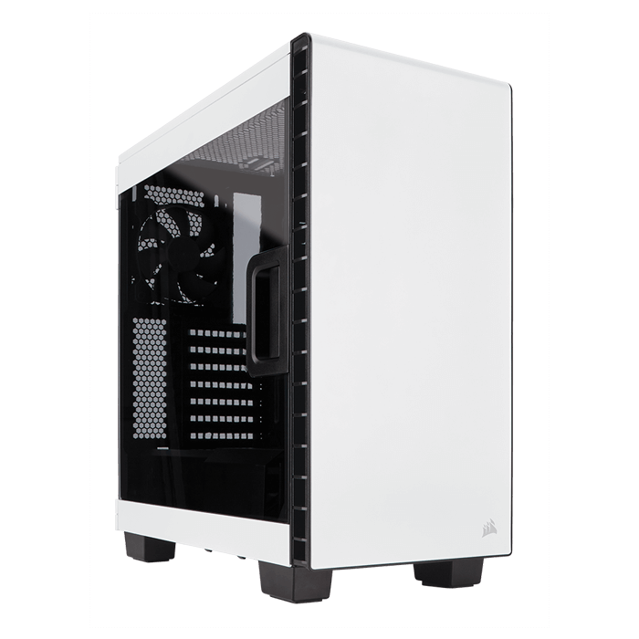 Carbide Series Clear 400C Compact w/ Window, No PSU, E-ATX, White, Mid Tower Case