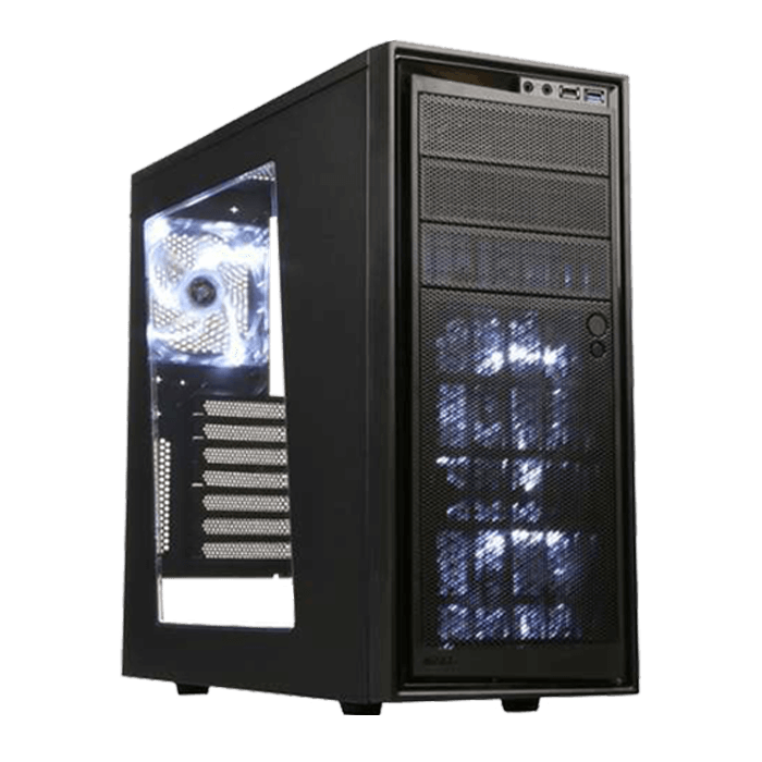 Source 220 Series CA-S220W-B1 w/ Window, No PSU, ATX, Black, Mid Tower Case