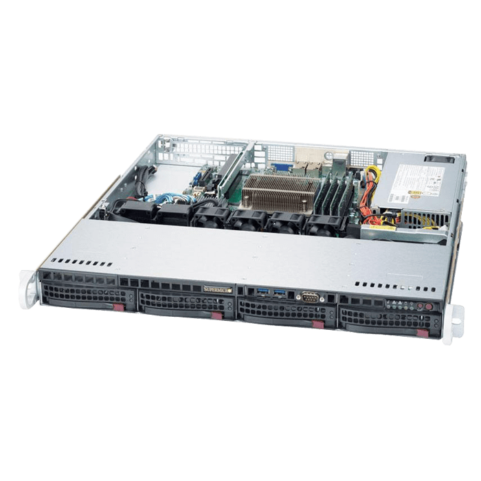 SuperServer 5019S-MT, 1U, Intel C236, 4x SATA, 4x DDR4, Dual 10Gb Ethernet, 350W PSU
