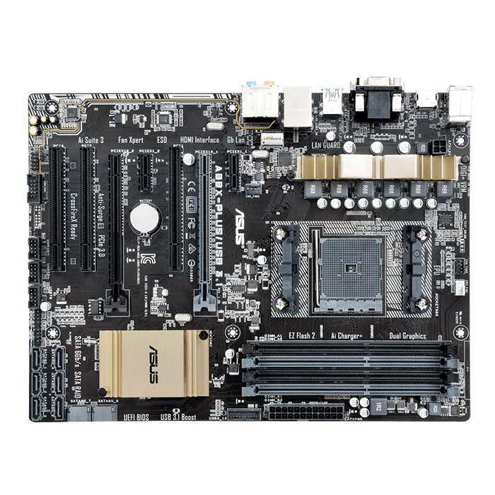 A88X-PLUS/USB 3.1, AMD A88X Chipset, FM2+, DDR3 64GB, HDMI, USB 3.1, ATX Retail Motherboard