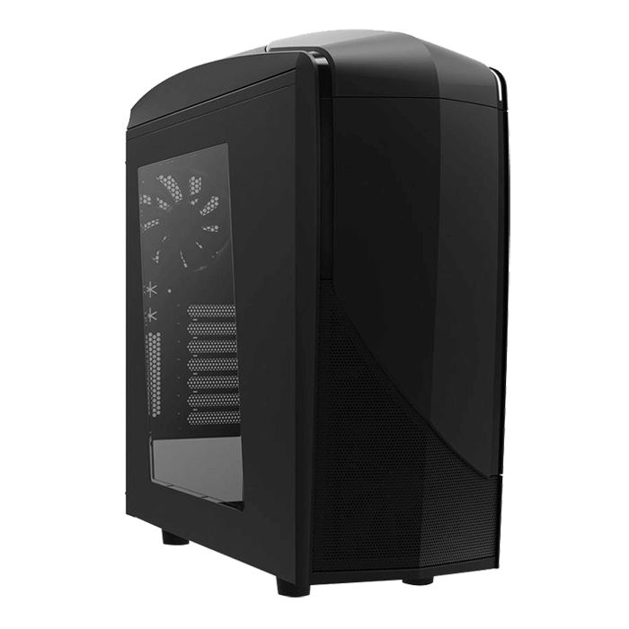 Phantom Series 240 w/ Window, No PSU, ATX, Black, Mid Tower Case
