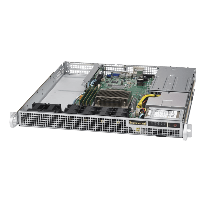 SuperServer 1019S-WR, 1U, Intel C236, 2x SATA, 4x DDR4, Dual 1Gb Ethernet, 400W Rdt PSU