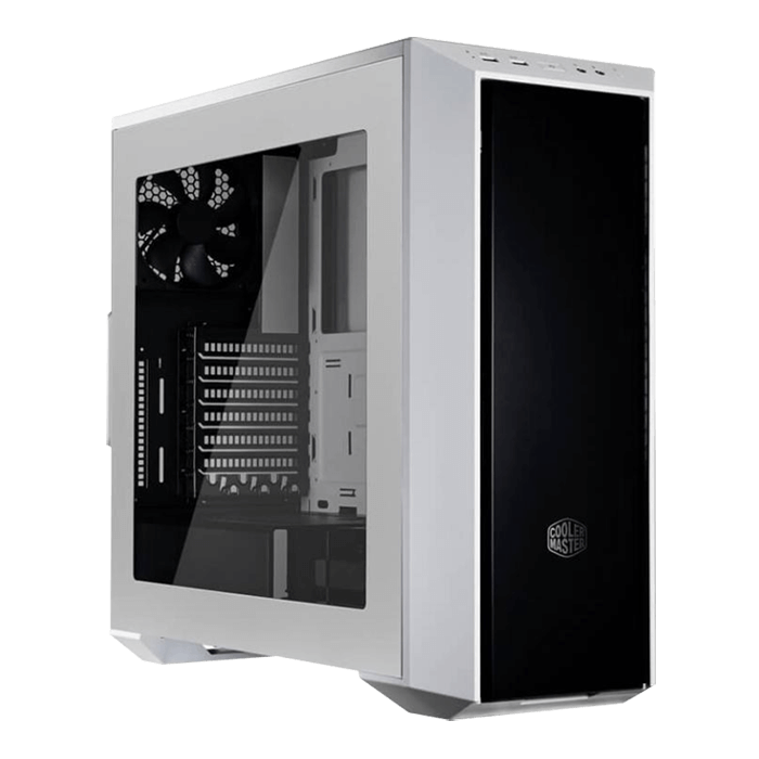 MasterBox 5 w/ Window, No PSU, ATX, White/Black Mid Tower Case