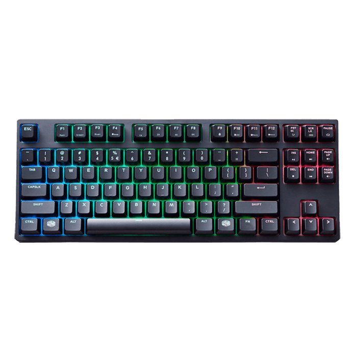 MasterKeys Pro S, Intelligent RGB Backlighting, Cherry MX Blue Switch, Macro Keys, Wired USB, Black, Retail Mechanical Gaming Keyboard
