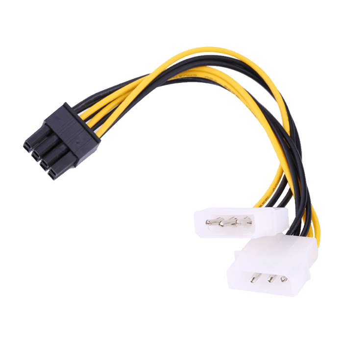 2 x Molex to 6 or 8pin PCIe Cable