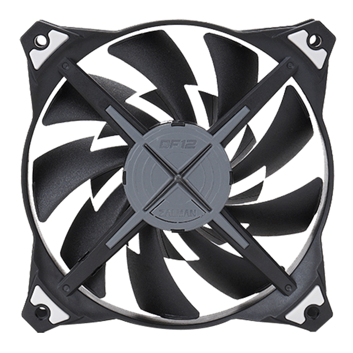 ZM-DF12 120mm w/ Blue LEDs, 1600 RPM, 63.76 CFM, 33 dBA Cooling Fan