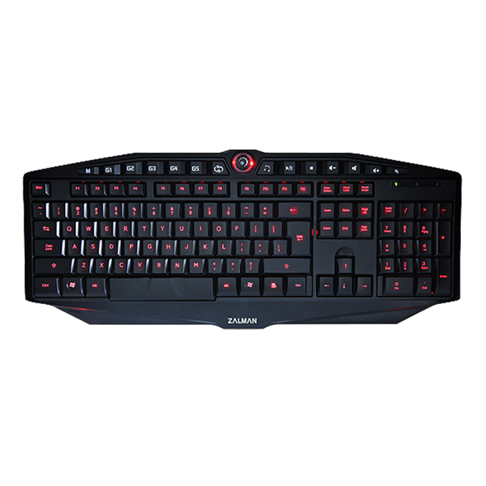 ZM-K400G, 3 Light Modes, 5 Programmable Keys, Wired USB, Black, Retail Gaming Keyboard