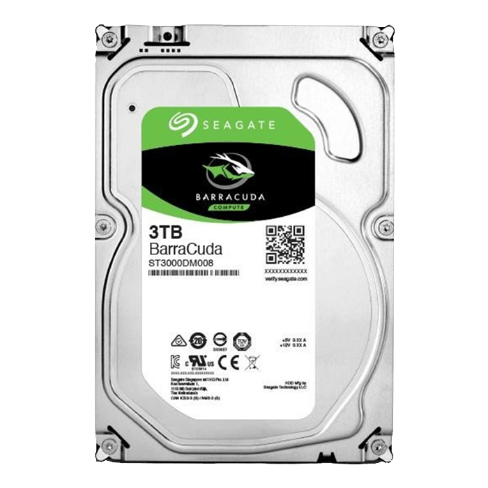 3TB BarraCuda ST3000DM008, 7200 RPM, SATA 6Gb/s, 64MB cache, 3.5-Inch OEM HDD