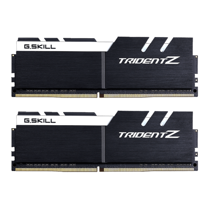 32GB Kit (2 x 16GB) Trident Z DDR4 3200MHz, PC4-25600, CL16 (16-18-18-38) 1.2V, Non-ECC, Black-White, DIMM Memory