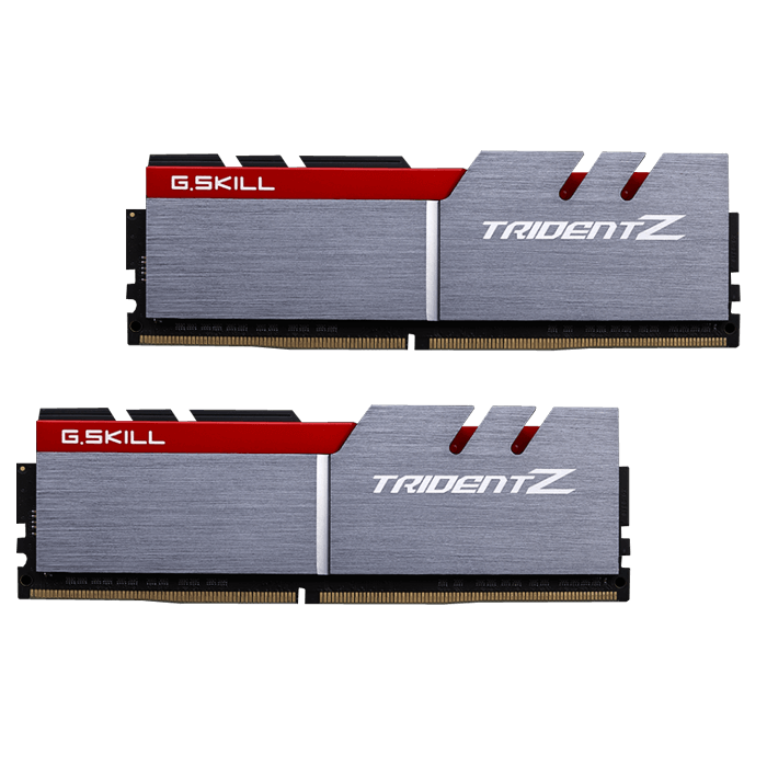 16GB Kit (2 x 8GB) Trident Z DDR4 3600MHz, PC4-28800, CL15 (15-15-15-35) 1.2V, Non-ECC, Silver-Red, DIMM Memory
