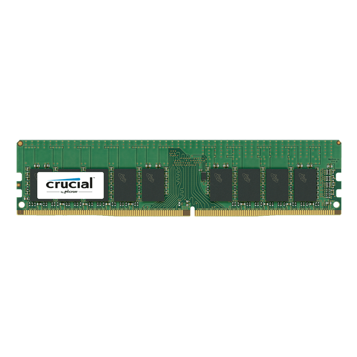 8GB Dual-Rank PC4-19200 DDR4 2400MHz CL17 1.2V SDRAM DIMM, ECC Unbuffered Memory
