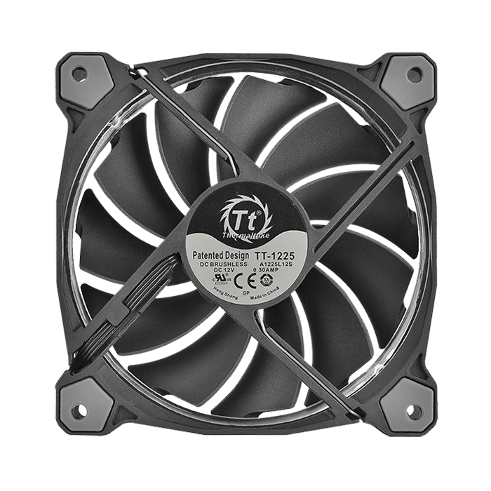 Riing 12 RGB Fan TT Premium Edition 120mm, 1400 RPM, 48.79 CFM, 24.8 dBA Cooling Fan