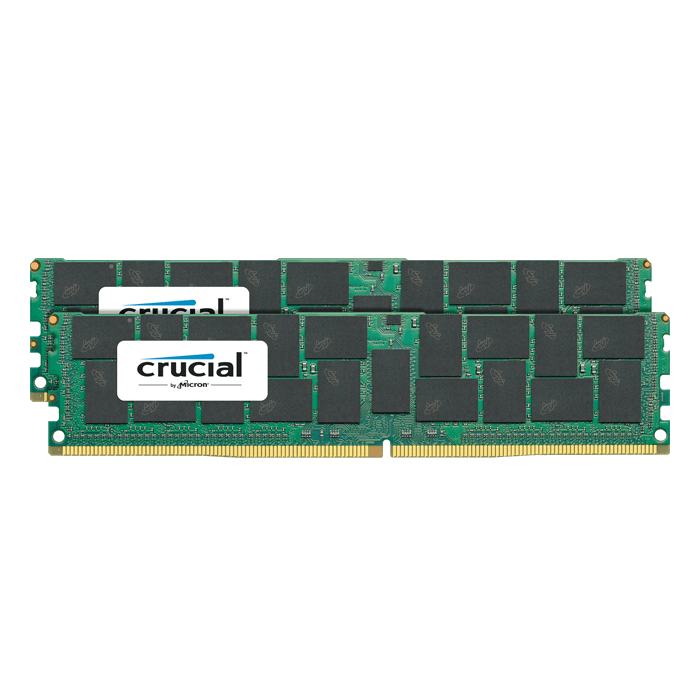 64GB (2 x 32GB) Dual-Rank PC4-19200 DDR4 2400MHz CL17 1.2V SDRAM DIMM, ECC Load Reduced Memory