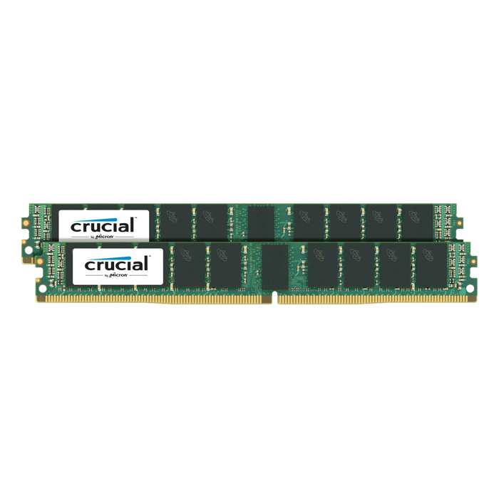 64GB (2 x 32GB) Dual-Rank PC4-19200 DDR4 2400MHz CL17 1.2V SDRAM DIMM, ECC Registered VLP Memory