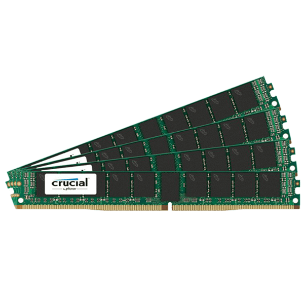 128GB (4 x 32GB) Dual-Rank PC4-19200 DDR4 2400MHz CL17 1.2V SDRAM DIMM, ECC Registered VLP Memory