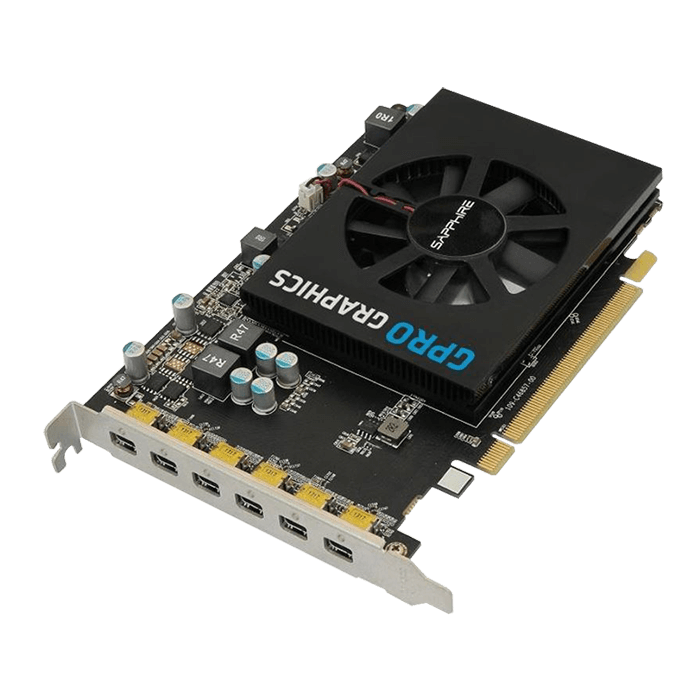 GPRO 6200, 4GB GDDR5 128-Bit, PCI Express 3.0 Graphics Card