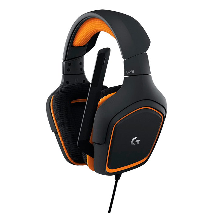 G231 Prodigy w/ Microphone, Stereo Sound, 3.5mm, Black-Orange, Retail Gaming Headset