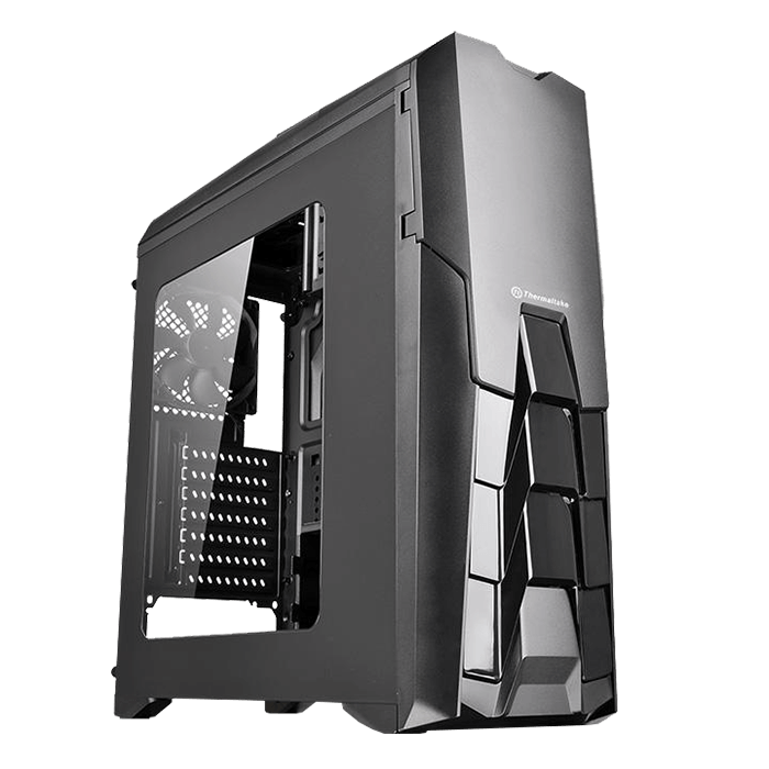 Versa Series N25, w/ Window, No PSU, ATX, Black, Mid Tower Case