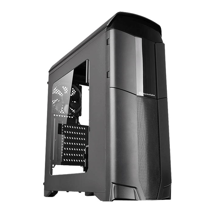 Versa Series N26, w/ Window, No PSU, ATX, Black, Mid Tower Case