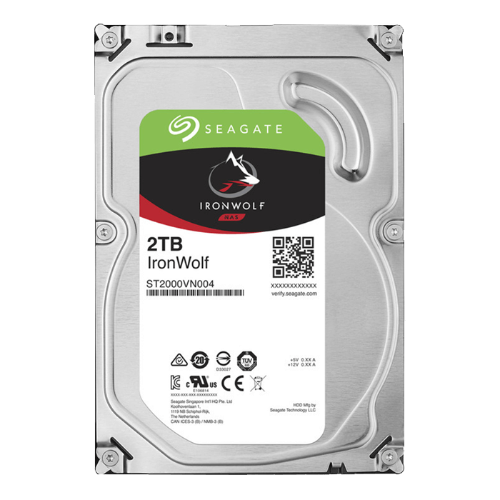 2TB IronWolf ST2000VN004, 5900 RPM, SATA 6Gb/s, 64MB cache, 3.5-Inch OEM HDD