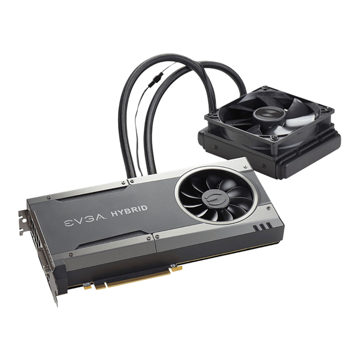 GeForce GTX 1070 FTW HYBRID GAMING, 1607 - 1797MHz, 8GB GDDR5 256-Bit, PCI Express 3.0 Graphics Card