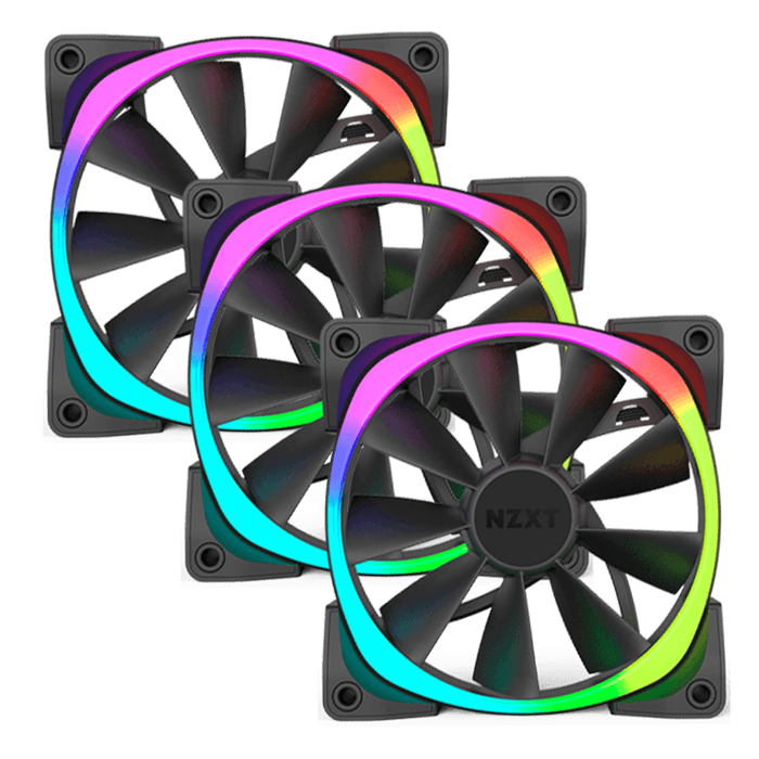 Aer RGB Series 3 x 120mm w/ RGB LEDs, 1500 RPM, 61.4 CFM, 31 dBA Cooling Fan