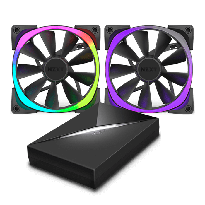 Aer RGB Series w/ HUE+ controller 140mm w/ RGB LEDs, 1500 RPM, 71.6 CFM, 33 dBA Cooling Fan