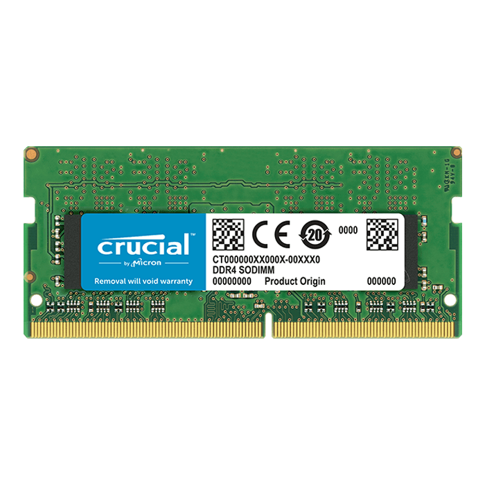 8GB Dual-Rank DDR4 2400MHz, PC4-19200, CL17 1.2V, Non-ECC, SO-DIMM Memory