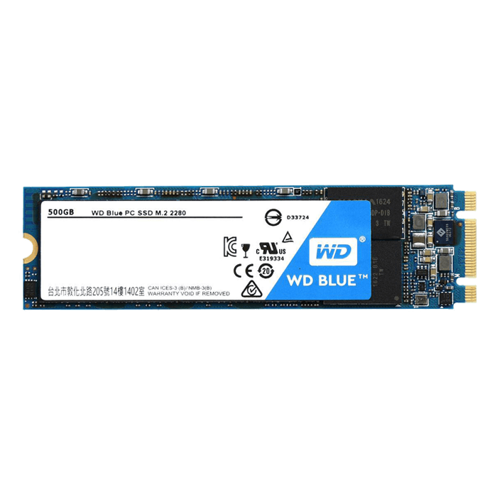 500GB WD Blue WDS500G1B0B 2280, 545 / 525 MB/s, TLC, SATA 6GB/s, M.2 SSD