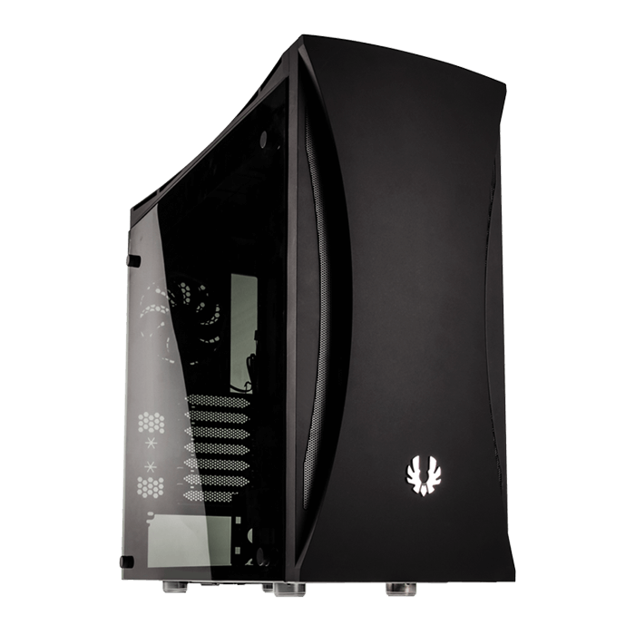 Aurora w/ Window, No PSU, E-ATX, Black, Mid Tower Case
