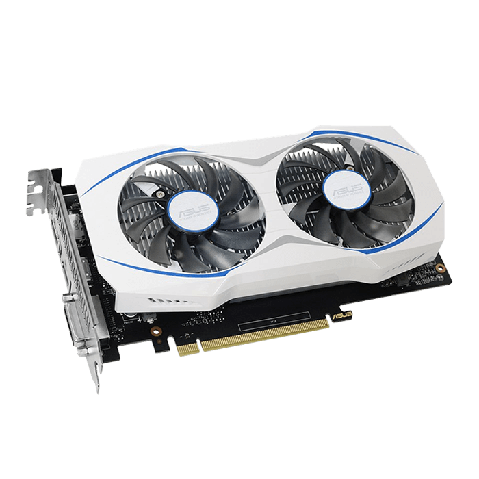 GeForce GTX 1050 DUAL-GTX1050-2G, 1345 - 1455MHz, 2GB GDDR5 128-Bit, PCI Express 3.0 Graphics Card
