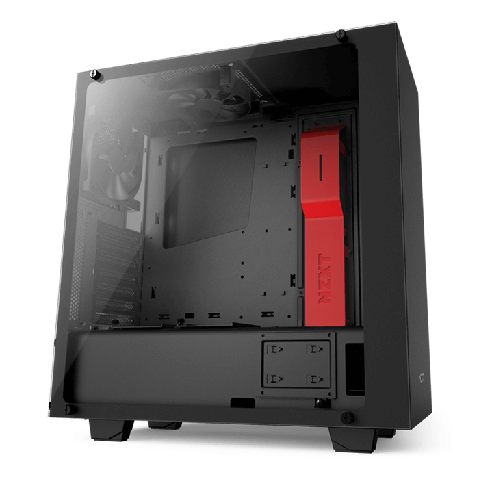 Source Series S340 Elite w/ Window, No PSU, ATX, Black/Red, Mid Tower Case