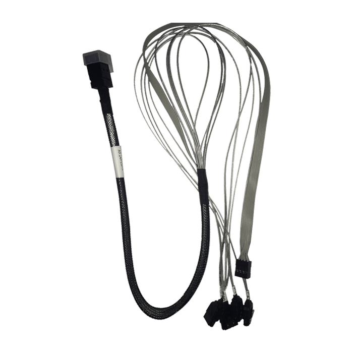 CB-43SA-75 Internal MiniSAS HD (SFF-8643) to 4x Breakout SATA Cable - 0.75 Meter Length