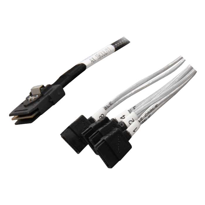 CB-87SA-75 Internal MiniSAS (SFF-8087) to Internal 4x Breakout SATA Cable - 0.75 Meter Length