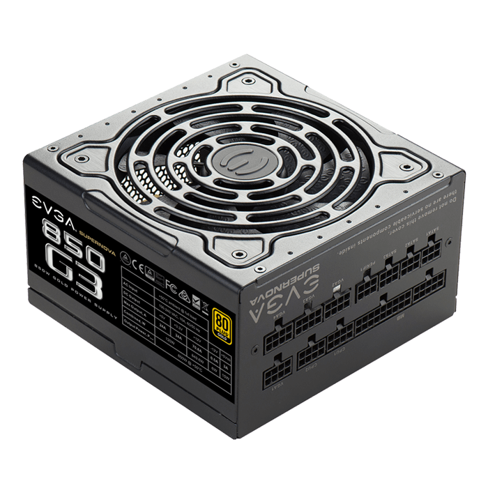 SuperNOVA G3 Series 850W, 80 PLUS Gold ECO Mode, Full Modular, ATX Power Supply