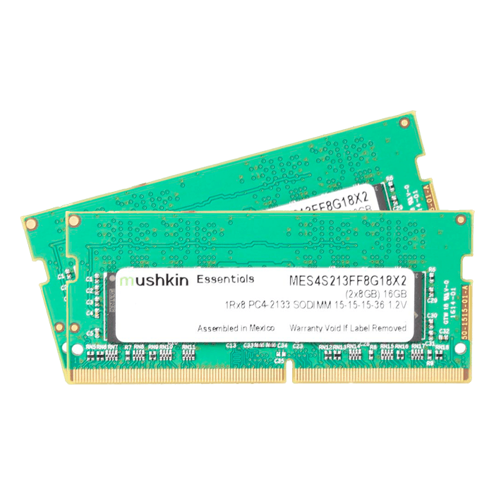 16GB Kit (2 x 8GB) Essentials DDR4 2133MHz, PC4-17000, CL15 (15-15-15-36) 1.2V, Non-ECC, SO-DIMM Memory