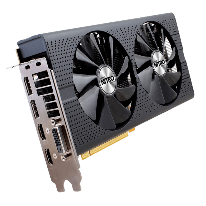 NITRO Series Radeon RX 480 8G D5 OC 11260-20, 1202 - 1306MHz, 8GB GDDR5 256-Bit, PCI Express 3.0 Graphics Card