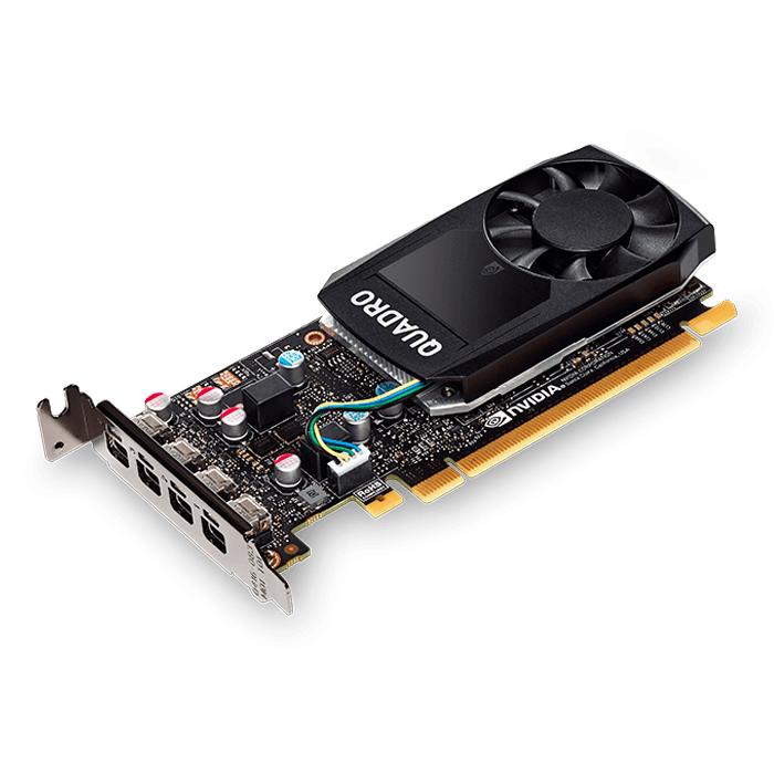 Quadro P1000 VCQP1000-PB, 4GB GDDR5 128-Bit, PCI Express 3.0 Graphics Card