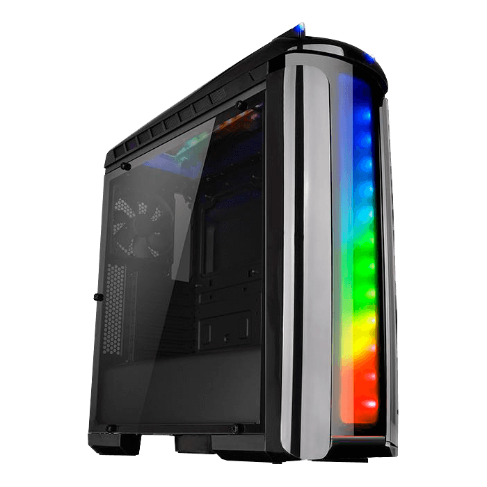 Versa Series C22 RGB, w/ Window, No PSU, ATX, Black, Mid Tower Case