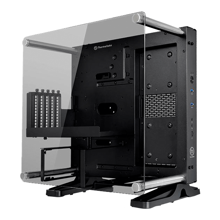 Core Series P1 TG Mini ITX w/ Window, No PSU, Black, Mini Tower Case