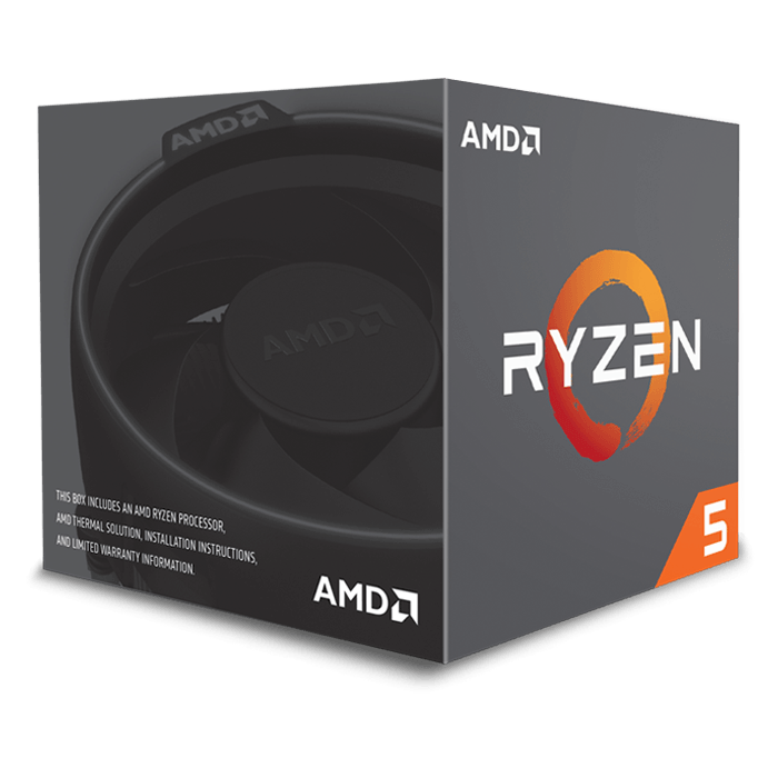 RYZEN 5 1600 Six-Core 3.2 - 3.6GHz Turbo, AM4, 16MB L3 Cache, DDR4, 14nm, 65W, Retail Processor