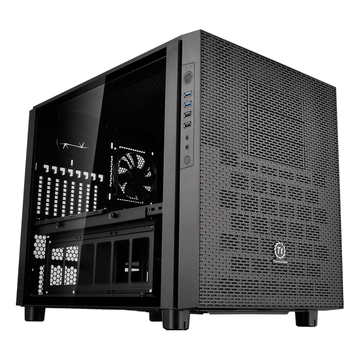 Core Series X5 Tempered Glass Edition w/ Window, No PSU, E-ATX, Black, Cube Case