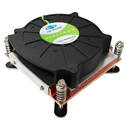 P199 Socket 775 Quad-Core Active 1U CPU Cooler, 5000 RPM, Copper